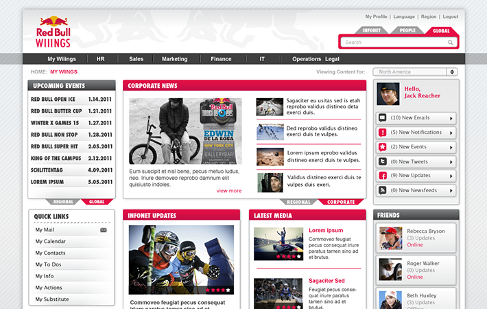 Red Bull Conceptual for Intranet